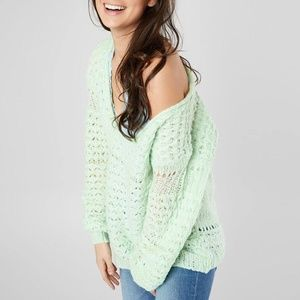 NWOT FREE PEOPLE Oversized Crashing Waves Sweater